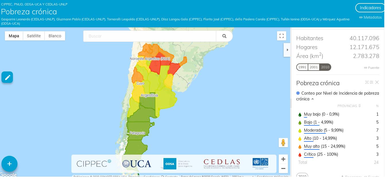 mapa pobreza cronica